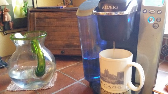Mom has a keurig so that is what I used. They're quick.