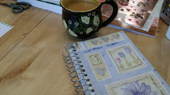 Coffee + Gratitude Journal. A great way to start the day.