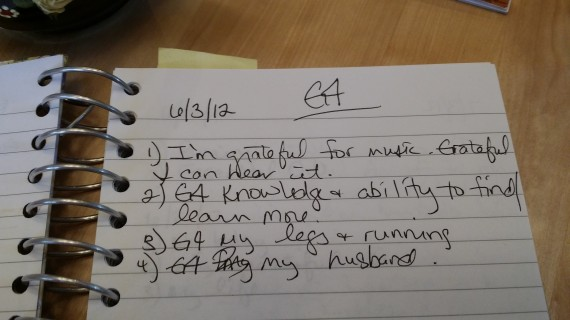 "An oldie but goodie. G4 is shorthand for ""Grateful for:"