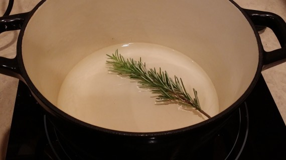 Use rosemary or other herbs when steaming veg to infuse the flavor in them