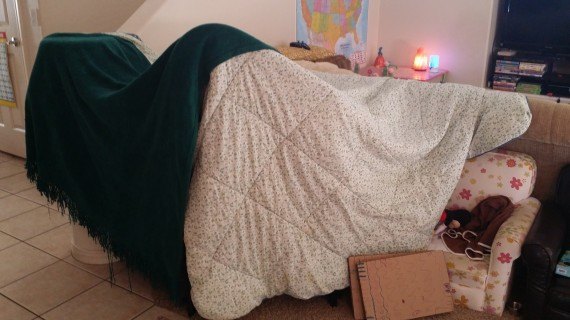 Building forts is always a win.