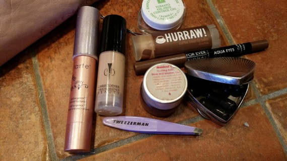 Peek into my makeup bag.