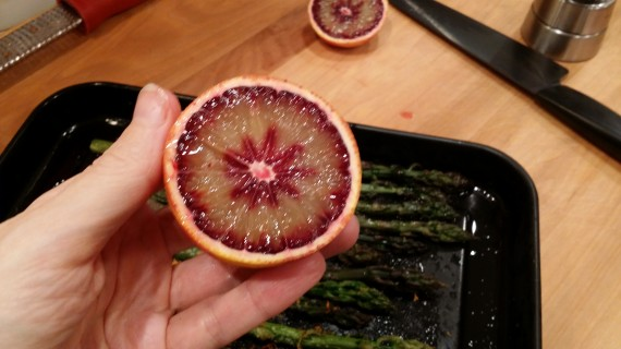 So interesting - the inside of a blood orange.