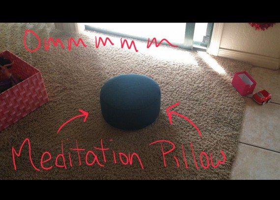 Meditation pillow beckoning me to come sit a minute.