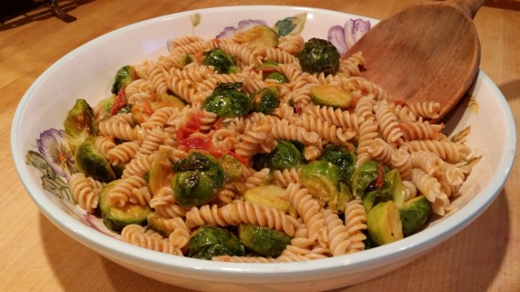 Gluten-Free pasta, Kristen Suzanne style - loaded with veggies and butter.