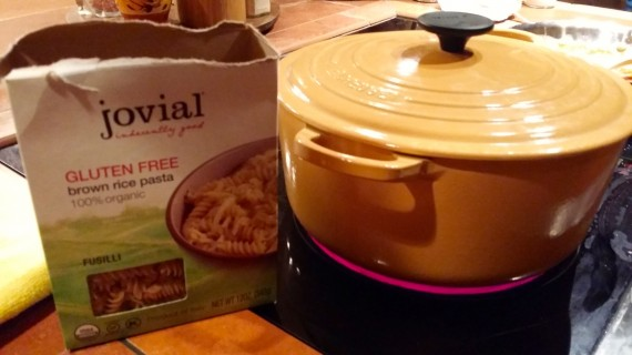 My favorite gluten free pasta. Jovial. I buy it on Amazon.