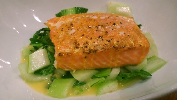 Delicious Wild-Caught King Salmon and Bok Choy