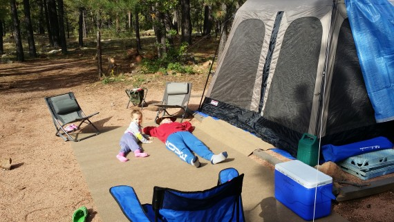A family who camps together stays together.