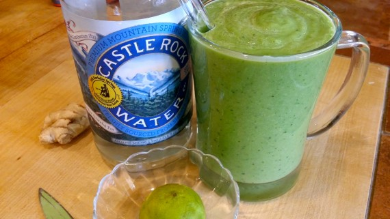 "A ""healthy"" green smoothie."