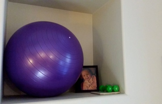 Balance ball ready to use! So fun.