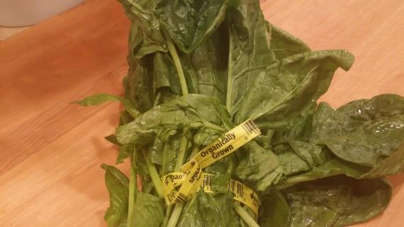 Pretty organic spinach.