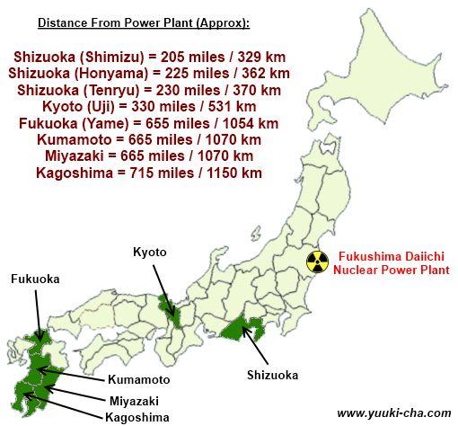 Helpful Japanese Tea Region Map
