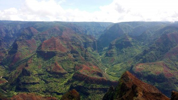 Gorgeous canyon view in Kauai.