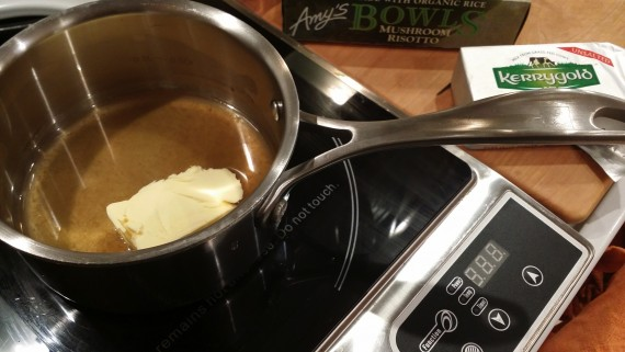 Small pot. Bone broth. Butter.