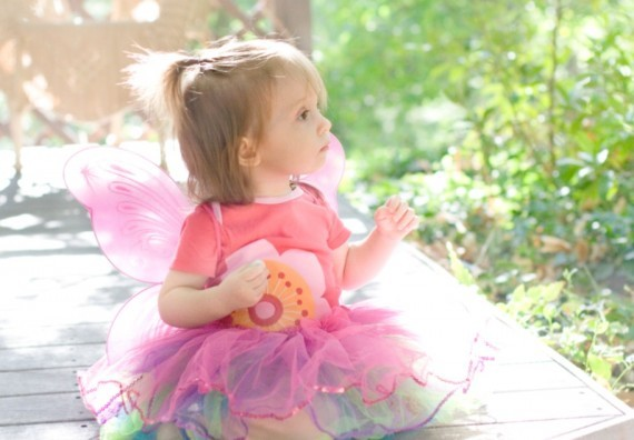 16 months old as a fairy while traveling to Sedona, AZ for Halloween.
