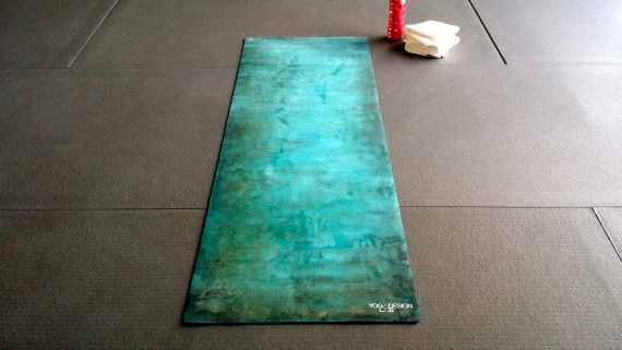 Let's do this! Yoga Design Lab mat.