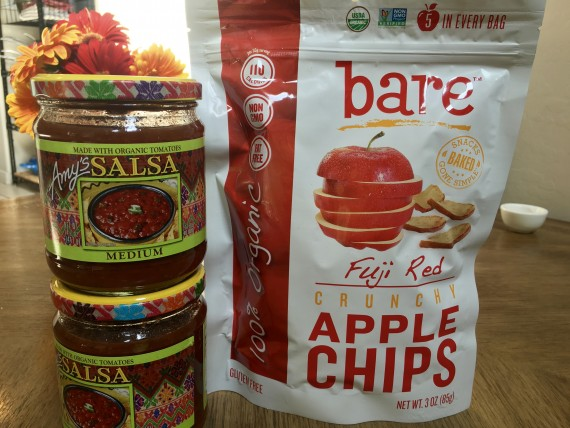 Try apple chips with salsa instead of corn chips.