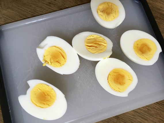 Wow. Pressure cooked hard cooked eggs. Easiest eggs ever to peel.