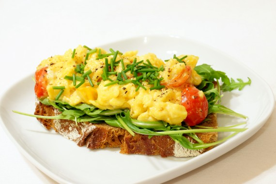 Scrambled eggs - feed your brain and body.