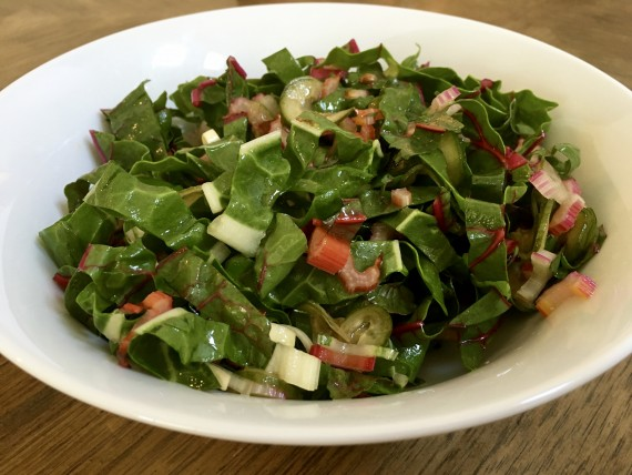 Organice swiss chard salad. Simple and full of flavor.