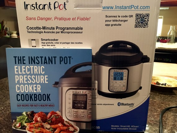 My new BFF in the kitchen - Instant Pot Smart. Book sold separately.