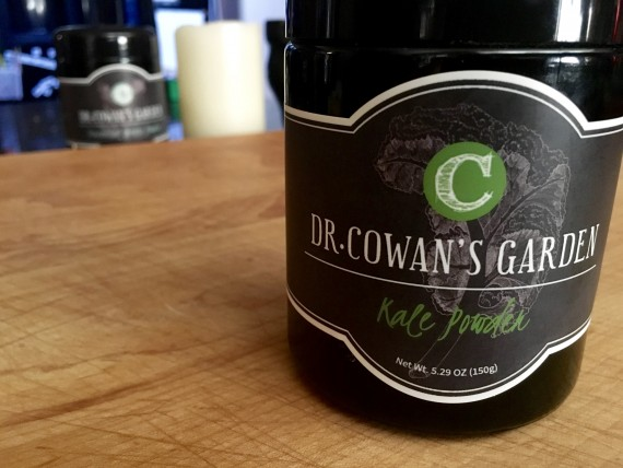 Dr. Cowan's delicious kale powder.