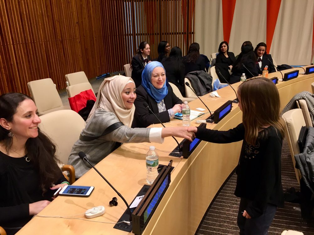 Kamea meeting Syrian refugee women engineers