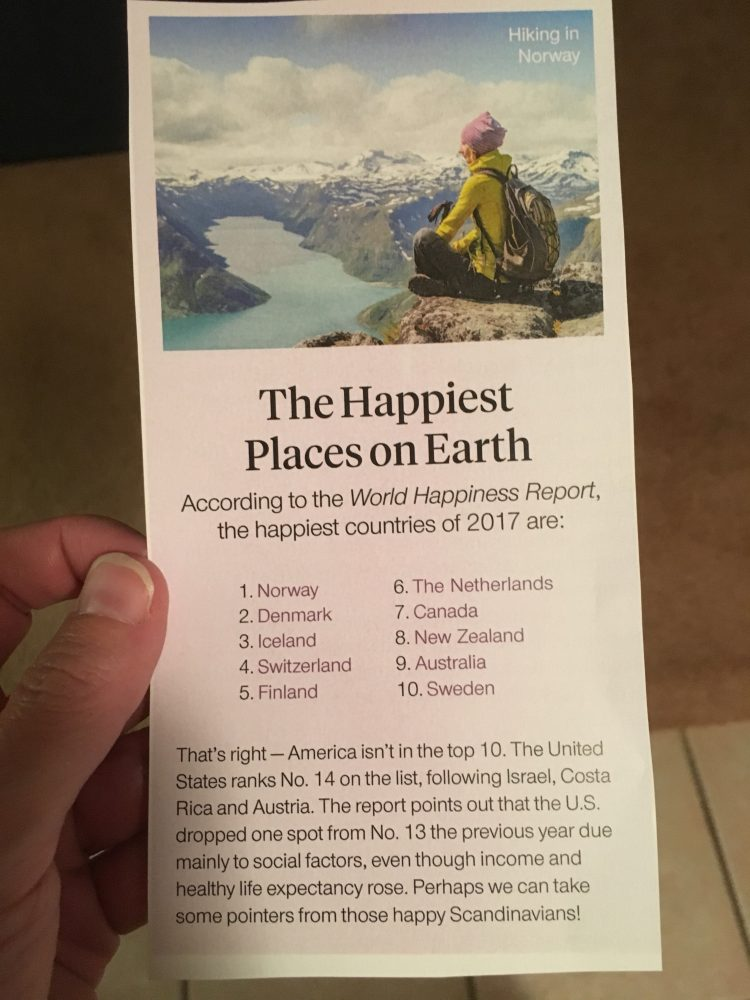 Happiest Places on Earth