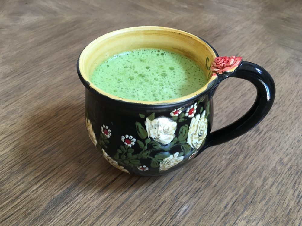 Cup of matcha green tea