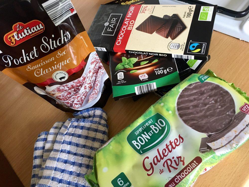 Packages food snacks