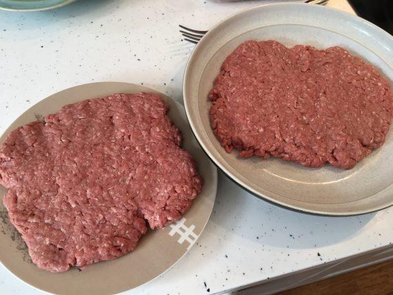 Raw ground beef patties Carnivore Diet Breakfast!